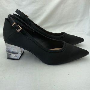 Zara Trafaluc Satin Glass Heels
